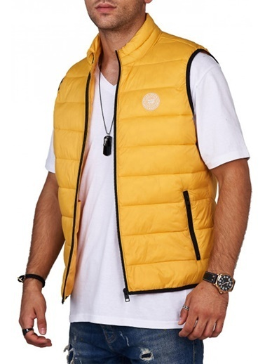 Jack & Jones JJEMAGIC BODYWARMER COLLAR STS 12173754Yolk YelXXL              Renkli